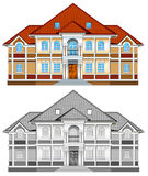 Drawing of country residence royalty free illustration