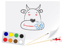 Drawing cow Stock Photos