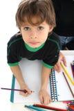 Drawing and crayons Royalty Free Stock Photos