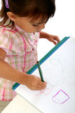 Drawing and crayons Stock Images