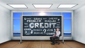 Drawing credit concept. Stock Photos