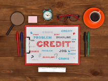 Drawing credit concept Stock Photo