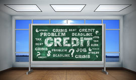 Drawing credit concept Royalty Free Stock Image