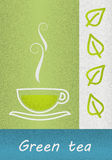 Drawing cup with green tea Stock Images