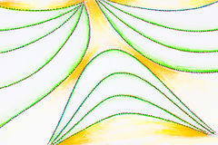 Drawing of curved dotted lines. Royalty Free Stock Photography