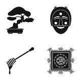 Drawing, decoration, nature and other web icon in black style., rolling, carpet, painting icons in set collection. Royalty Free Stock Images