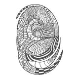 Drawing decorative Snake Pattern Royalty Free Stock Photo