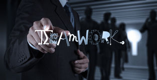 drawing design graphic word TEAMWORK Royalty Free Stock Photo