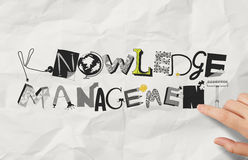 Drawing design word KNOWLEDGE MANAGEMENT Stock Images