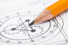 Drawing detail and pencil Royalty Free Stock Photography