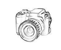 Drawing digital camera Stock Photo