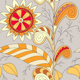 Drawing doddle seamless pattern Royalty Free Stock Photo