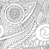 Drawing doddle seamless pattern Royalty Free Stock Images