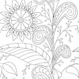Drawing doddle seamless pattern Royalty Free Stock Image