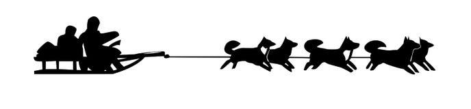 Drawing dog teams royalty free illustration