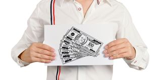 Drawing dollars Royalty Free Stock Photo
