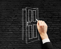 Drawing door Royalty Free Stock Images