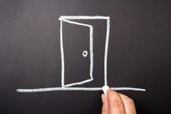 Drawing Door Stock Photography