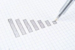 Drawing down graph Stock Image