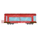 drawing drawing train wagon rail Stock Photo