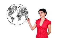 Drawing earth Stock Images