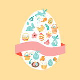 Drawing Easter set Royalty Free Stock Image