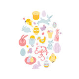Drawing Easter set Royalty Free Stock Photography