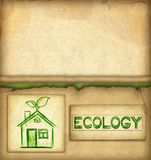 Drawing of eco house Stock Photos