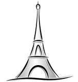 Drawing of eiffel tower Royalty Free Stock Image