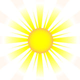 A drawing element of sun (vector) Stock Image