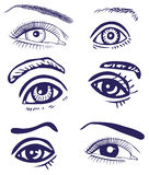 Drawing eyes Stock Image