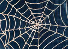 Drawing on fabric web for Halloween Royalty Free Stock Photos