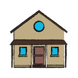Drawing familiy house countryside Royalty Free Stock Photo