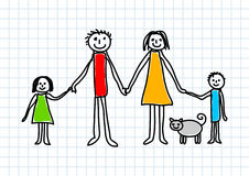 Drawing of family Stock Images