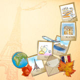 Drawing famouse landmark of France Stock Photo