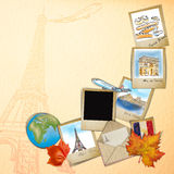 Drawing famouse landmark of France Royalty Free Stock Photo