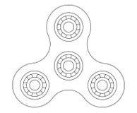Drawing fidget spinner - 2D illustration vector modern.  Stock Images