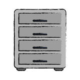 Drawing file cabinet archive workplace. Vector illustration eps 10 Royalty Free Stock Photography