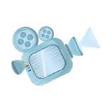Drawing film camera projector reel. Illustration eps 10 Stock Photos