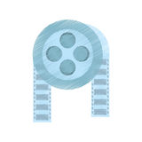 Drawing film reel cinema video tape. Illustration eps 10 Stock Image