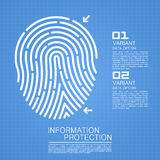 Drawing with fingerprint. Art protect. Vector illustration Stock Image