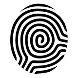 Drawing fingerprint symbol. Illustration for the web Stock Images