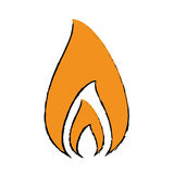 Drawing fire flame burning hot design. Vector illustration eps 10 Royalty Free Stock Photography