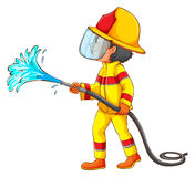 A drawing of a fireman Stock Photo