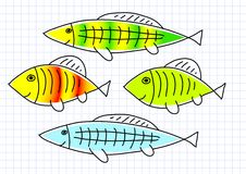Drawing of fish Stock Photography