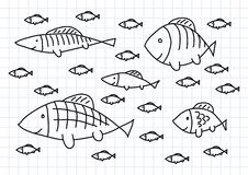 Drawing of fish Stock Photos