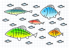 Drawing of fish Stock Image