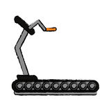 Drawing fitness walking machine gym design Royalty Free Stock Photography