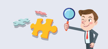 Drawing flat character design business analysis concept stock illustration