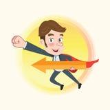 Drawing flat character design business hero concept Stock Photos